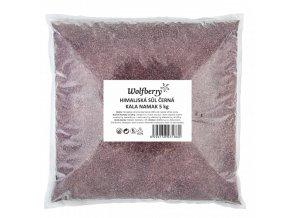 Himalájská sůl černá Kala Namak 5Kg Wolfberry