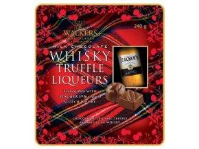 Whisky Liquers 240g Walkers - pralinky z mléčné čokolády s alkoholovou náplní