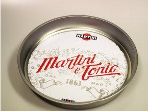 Kovové plato pro barmany Martini Tonic