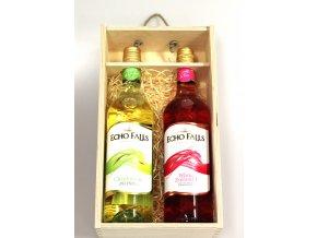 Dárkové Balení vína Echo Falls v dřevěném balení 2x0,75l