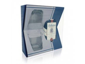 Ballantines Finest 0,7 l dárkový box se skleničkami