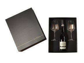 Dárkové černozlaté balení se 2 skleničkami Vinařství u Kapličky