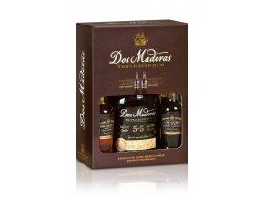 Rum Dos Maderas P.X. 5+5 10YO + 2x Mini Sherry 0,1l 40% 0,7l