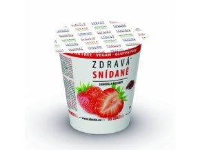 Zdravá snídaně jahody+rozinky