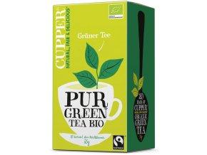 BIO Čaj Cupper Pur Green Tea - čistý zelený čaj 20 sáčků