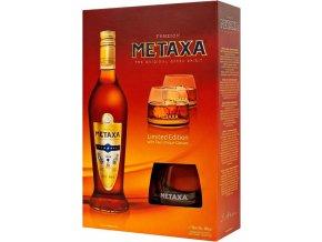 Metaxa 7* 0,7 l dárkový box se skleničkami