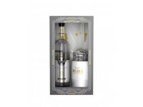 Vodka Beluga Noble Glass Caviar Dish 40% 0,7 l (dárkové balení krabička na kaviár)