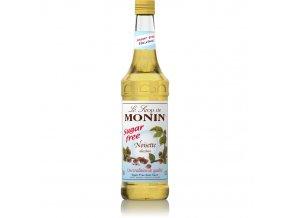 Monin hazelnut - lískový oříšek bez cukru 0,7 l