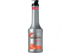 Monin puree fruit strawberry - Jahoda 1 l