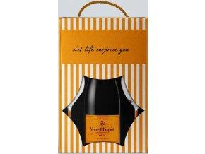 Veuve Clicquot Yellow label Brut v dárkovém balení se skleničkama 0,75l