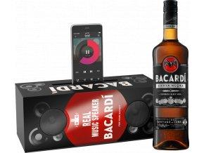 Bacardi Carta Negra music box - dárkové balení 40% 0,7l