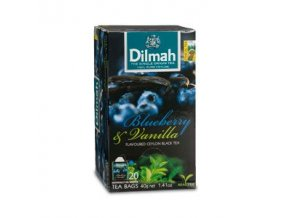 Čaj černý borůvka + vanilka 20sáčků DILMAH