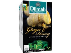 Čaj černý Zázvor a med 20 sáčků DILMAH