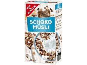 Edeka Schoko Muesli - čokoládové muesli 750g