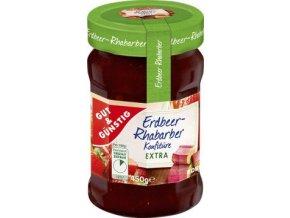 Erdbeer-Rhabarber Konfiture Extra - jahodovo-rebarborový extra džem 450g Edeka
