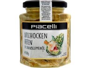 Artischocken herzen - Artyčoky ve slunečnicovém oleji 280g Piacelli