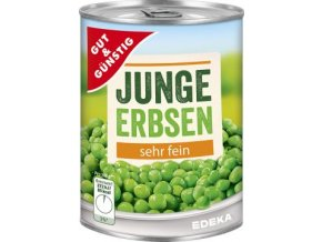 Junge Erbsen - Hrášek jemný v nálevu 400g Edeka