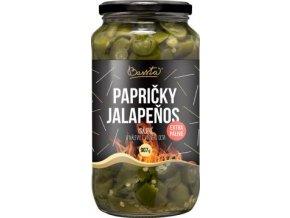 Papričky Jalapenos Extra pálivé krájené v nálevu z viného octa 907g BASSTA