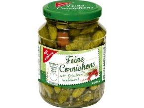 Feine Cornichons mit Krautern - Nakládané okurky Cornichons s bylinkami 350g Edeka