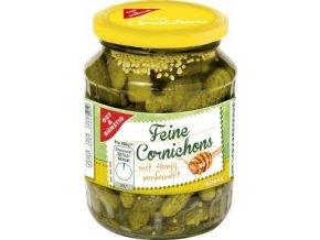Feine Cornichons mit Honig - Nakládané okurky Cornichons s Medem 350g Edeka