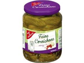 Feine Cornichons Wurzig - Nakládané okurky Cornichons Pikantní 670g Edeka