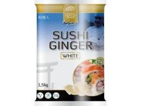 Sushi Ginger White - Zázvor plátky v nálevu bílý 1,5kg Golden Turgle Brand