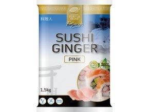 Sushi Ginger Pink - Zázvor plátky v nálevu růžový 1,5kg Golden Turgle Brand