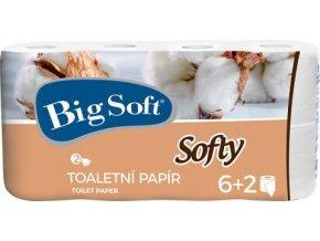 Big Soft Softy - Toaletní papír 2 vrstvý 6+2x200 útržků