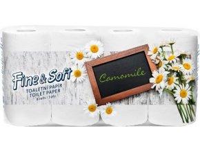 Fine and Soft Camomile - Toaletní papír heřmánkový 3 vrstvý 8x150 útržků