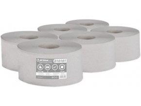 Toaletní papír Jumbo 1 vrstvý šedý 6 rolí průměr 19cm