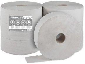 Toaletní papír Jumbo 1 vrstvý šedý 6 rolí průměr 28cm