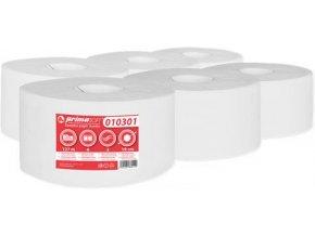 Toaletní papír Jumbo 2 vrstvý bílý 6 rolí průměr 19cm