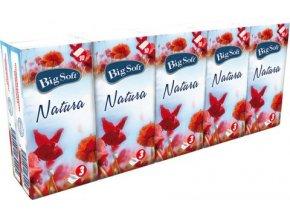 Big Soft Natura - Kapesníčky 3 vrstvé 10x10ks