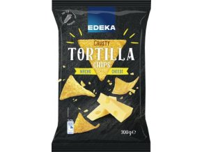 Crusty Tortilla Chips Cheese - Tortilové chipsy se sýrovou příchutí 300g Edeka