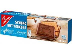 Schoko butterkeks Vollmilch - polomáčené máslové sušenky 125g Edeka