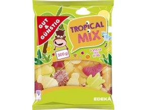 Bonbóny Tropical Mix - želatinové ovocné bonbóny 300g Edeka