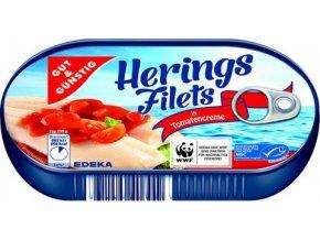 Herings Filet in Tomatencreme - Sleďové filety v rajčatovém krému 200g Edeka