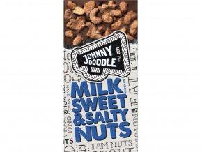Johnny Doodle – mléčná čokoláda, sladké a slané ořechy 150 gramů