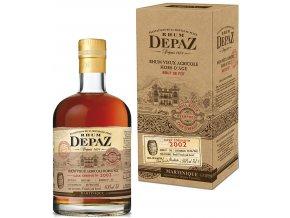 Rum Depaz Cask Strength 2002 Vintage v kartonu 64,9% 0,7l