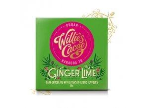 Willies Cacao Sierra Leone Ginger Lime Hořká se zázvorem a limetkou 70% 50g