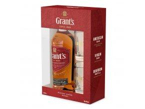 Whisky Grants Triple Wood - v dárkovém balení se skleničkama 0,7l