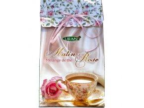 Matin Rose - růžové ráno s aroma aloe vera - sypaná směs černého a zeleného čaje 100g Liran