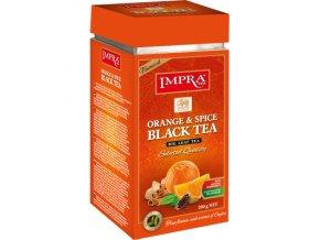 Čaj Impra Orange and Spice Black Tea - černý čaj sypaný s pomerančem a kořením 200g