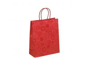 cervena papirova taska piccadilly 25x11x31