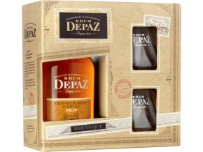 Rum Depaz VSOP Réserve Spéciale - v dárkovém balení se 2 skleničkama 45% 0,7l