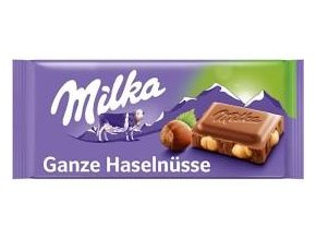 milka whole hazelnut cely orech 100g 17ks
