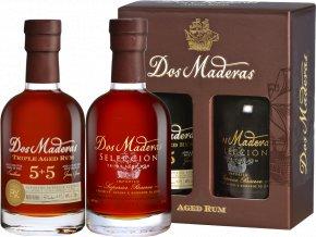 Rum Dos Maderas - dárková sada 2x0,2l
