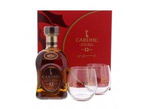 Whisky Cardhu 12YO - v dárkovém balení se 2 skleničkama 40% 0,7l