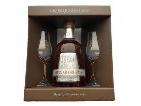 Quorhum 15YO - v dárkovém balení se 2 skleničkama 40% 0,7l