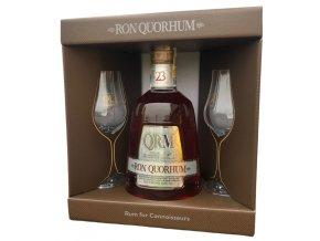 Quorhum 23YO - v dárkovém balení se 2 skleničkama 40% 0,7l